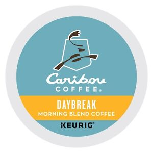 Caribou Daybreak Morning Blend Coffee 24 to 144 Keurig K cups Pick Any Size