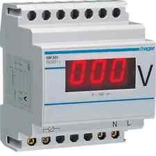 HAGER LUME SM501 VOLTMETRO DIGITALE 0-500V 4 MODULI
