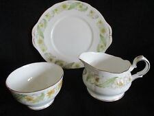 Vintage Duchess china Greensleeves Cake plate, sugar bowl and jug lovely