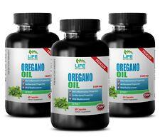 Calcium Supplement - Oregano Oil 1500mg - Prevent Liver Problems Capsules 3B