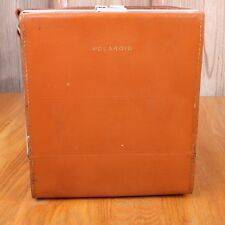 Original Vintage Polaroid Leather Carrying Case Bag With Shoulder Strap