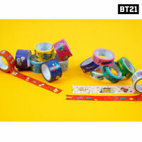 BTS BT21 Official Authentic Goods Masking Tape 2ea SET by Kumhong Fancy