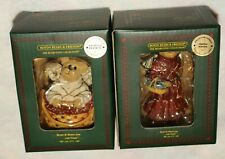 New listing 2 Boyds Bears & Friends ornaments Melody Angel & Crystal Angelfrost