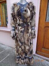 NWOT Real fox long fur coat - unique Victorian look Beauty Size US M soft light