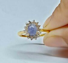 Uncut Diamond jewelry Floral Ring 925 Sterling Silver Handmade Tanzanite Ring