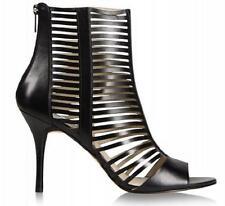 Women's Shoes Michael Kors ODELIA BOOTIE Strappy Sandals Heels Open Toe Black