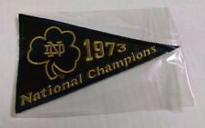 56f2680313b 2013 Upper Deck NOTRE DAME FIGHTING IRISH 1973 National Championship Pennant   73