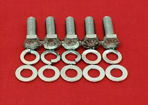 1949-53 FORD TIMING COVER BOLTS KIT V8 FLATHEAD STAINLESS STEEL HEX SCREW SET