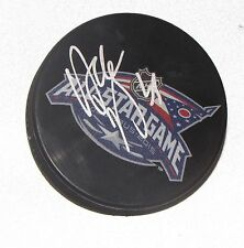 DUSTIN BYFUGLIEN Signed 2015 NHL ALL-STAR GAME HOCKEY PUCK! JETS AUTO 1005380