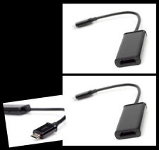 2X MHL MICRO USB TO HDMI BLACK ADAPTER FOR GALAXY NOTE NEXUS LTE EVO OPTIMUS