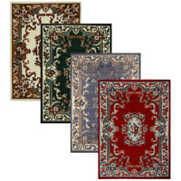 Oriental Floral Border Medallion Area Rug Scrolls Traditional Persian Carpet