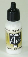 Vallejo Model AIR   WHITE 71.001 Acrylic Hobby Model Paint 17ml Airbrush Ready