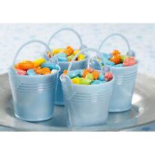 Blue Bucket Favor Pails - For Baby Shower or Birthday Favors - Set of 12    FAVB