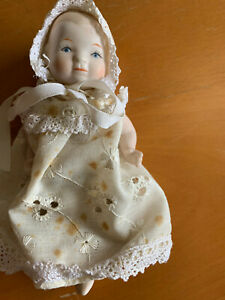 Miniature Vintage Jointed Baby Doll