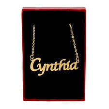 CYNTHIA Name Necklace Stainless Steel / 18ct Gold Plated | Birthday Gift Ideas