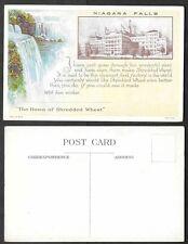 Old Advertising Postcard - Shredded Wheat - Niagara Falls, New York