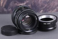 HELIOS 44M-4 2/58mm Soviet SLR Lens Pentax Zenit + M42 adapter