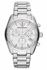 Emporio Armani Sportivo Watch Silver/White Quartz Analog Unisex Watch AR6013