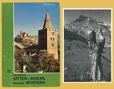 Wanderbuch Sitten Siders Mittelwallis Montana Cantone Vallese