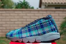 NIKE AIR FOOTSCAPE DESERT CHUKKA 10 MIDNIGHT NAVY BLUE JADE SILVER 652822 400
