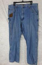 Men's Wrangler Riggs Workwear Blue Jeans Size 40x30 Durashield Denim Light Wash
