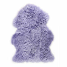 Lambland Hand Finished Quality British Sheepskin Rug in Lilac - Size Single