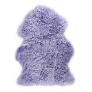 Lilac British Sheepskin Rug UK Moorland Hide Fluffy Purple Lambskin by Lambland