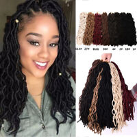 "20"" Synthetic Faux Locs Curly Wavy Twist Braids Afro Locs Crochet Hair Extension"