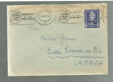 1950 Germany cover Hamburg to Lake Cowichan ORIGNAL LETTER & DRAWING #B313 Fine