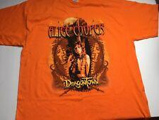 Vintage Alice Cooper Dragontown 2002 Tour Shirt Double Sided XXL Orange
