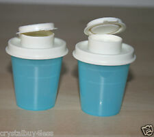 Tupperware  Set of Midget Salt and Pepper Shakers salt water taffy NEW