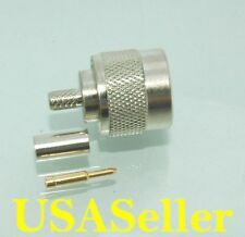 10 pcs N Male Plug Crimp for RG58 RG142 LMR195 Connectors; US Stock; E6301/58U