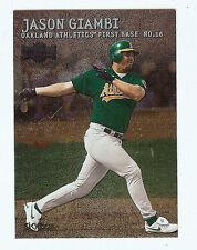 2000 Jason Giambi, Oakland A's Athletics SkyBox Metal #136