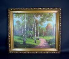 """-Schönes Ölbild """"Landschaft, Birkenhain"""""""