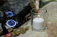Set of 72 Clear Glass Votive Holders + 72 Votive Candles (Choose From 10 Colors)