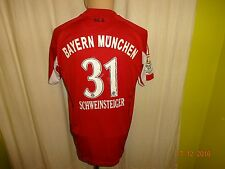 """FC Bayern München Adidas Trikot 2010/11 """"-T---"""" + Nr.31 Schweinsteiger Gr.S- M"""