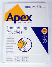 Fellowes Apex Laminate Pouches A4 & A3  2 x 75 micron (150 micron) various quant