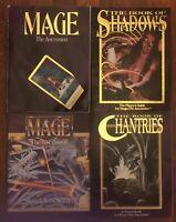 RARE RPG: MAGE ASCENSION SOURCE BOOK + CHANTRIES + SHADOWS & SCREEN WHITE WOLF