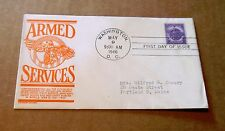 """1946! """"Armed Services""""! US Army,Navy,Marines,C.G., Etc! w/3 Cent Stamp! VG Cond!"""