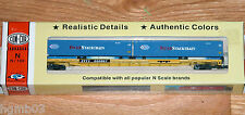 CON-COR 0001-102601 N 89' FLATCAR TRAILER TRAIN WITH CONTAINERS PACER STACK