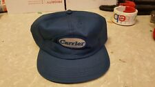 Carrier Air Conditioner  Trucker Cap Hat Adjustable Snapback Blue  Patch