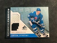 2007-08 SP GAME USED ANTON STASTNY AUTHENTIC FABRICS JERSEY AF-AS #ed 66/100