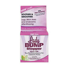 Lady Bump Stopper Night Time Razor Bump Treatment Cream w/ Hair Inhibitor 0.5 oz