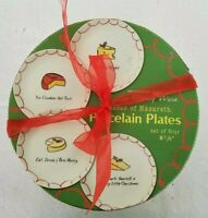 """Cheeses of Nazareth"" Porcelain Plates Qty 4  6-1/2"" Each Whimsy Ware Holiday"