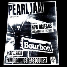 Pearl Jam t shirt XL black concert organic cotton bourbon new Orleans seattle