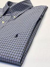 Ralph Lauren Maniche Lunghe Blu Check camicia L