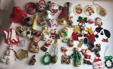 50+ Lot Funky Modern & Vintage Mixed Christmas Holiday Ornaments Decorations