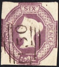 More details for 1854 queen victoria uk stamp 6d purple embossed sg60 fine used