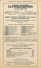 """JOURNAL INFORMATION POLITIQUE """" LA PETITE GIRONDE """" PUBLICITE 1939"""