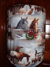 WINTER WREATH BARN FARM 5 GALLON WATER COOLER BOTTLE COVER KITCHEN DECORATION